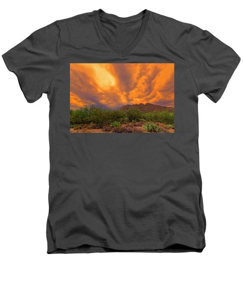 Men's V-Neck T-Shirt featuring the photograph Sonoran Sonata H16 by Mark Myhaver