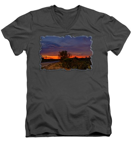 Sonoran Sunset H48 Men's V-Neck T-Shirt by Mark Myhaver