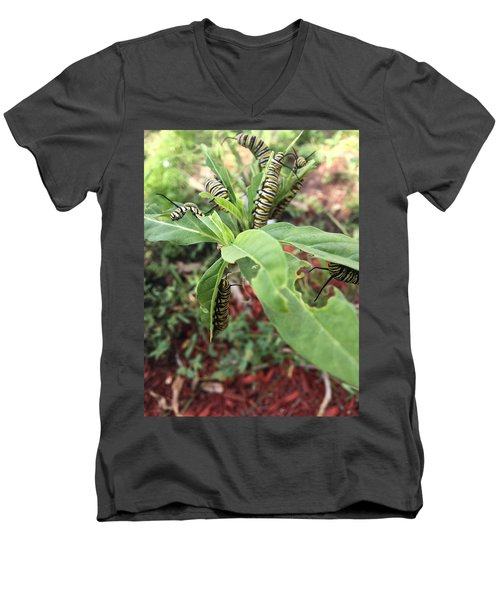 Soon To Change Men's V-Neck T-Shirt by Audrey Robillard