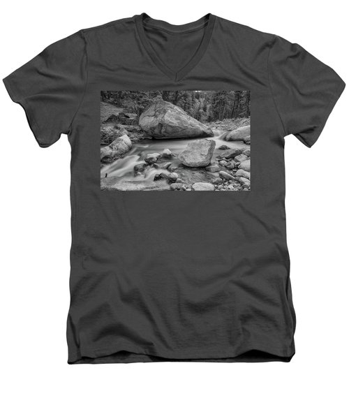 Soothing Colorado Monochrome Wilderness Men's V-Neck T-Shirt by James BO Insogna