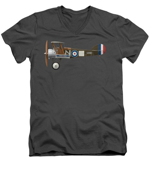 Sopwith Camel - B6313 March 1918 - Side Profile View Men's V-Neck T-Shirt by Ed Jackson