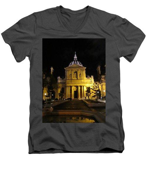 Sorbonne Night Men's V-Neck T-Shirt