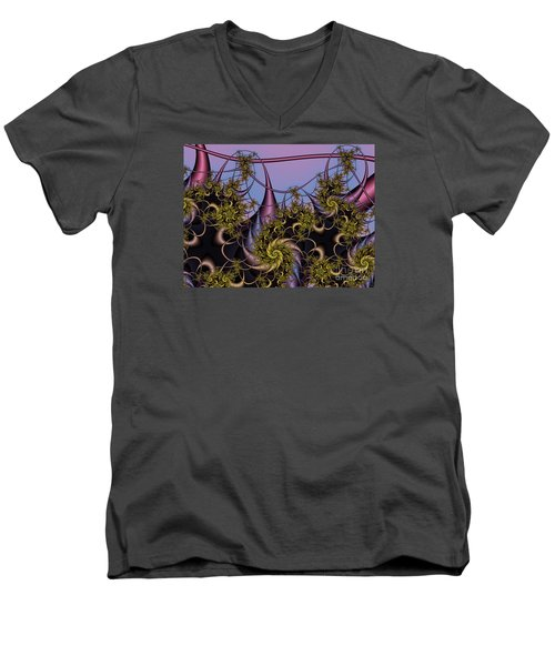 Men's V-Neck T-Shirt featuring the digital art Sorcerers Apprentice by Karin Kuhlmann