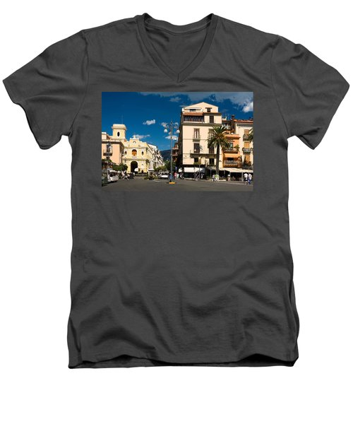 Sorrento Italy Piazza Men's V-Neck T-Shirt
