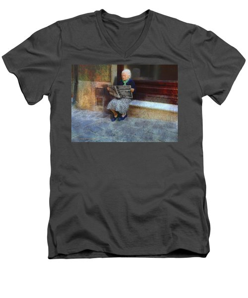 Sorrento News Men's V-Neck T-Shirt