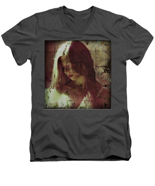 Sorrow Men's V-Neck T-Shirt by Allen Beilschmidt