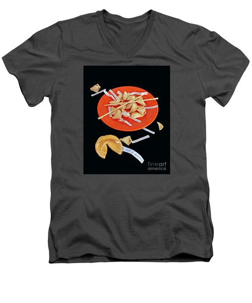 Misfortune Cookies Men's V-Neck T-Shirt by Joe Jake Pratt
