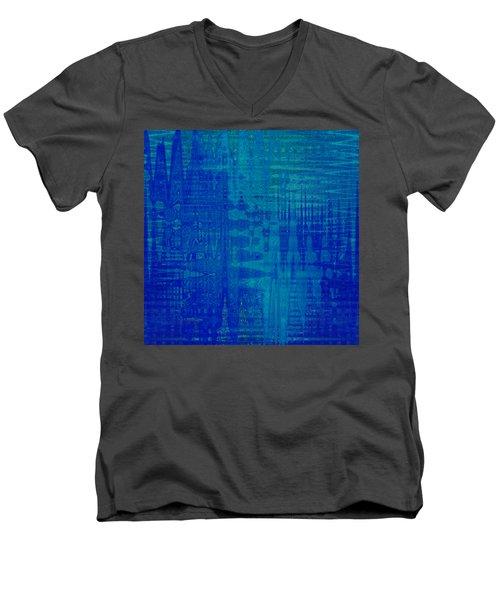 Sounds Of Blue Men's V-Neck T-Shirt by Stephanie Grant
