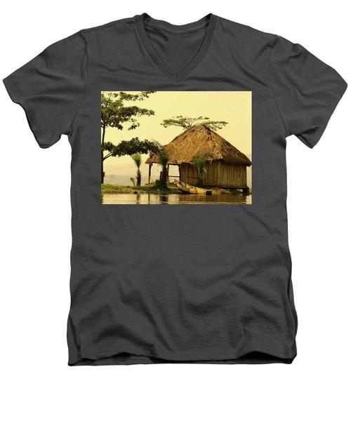 Source Of The Nile Men's V-Neck T-Shirt by Exploramum Exploramum