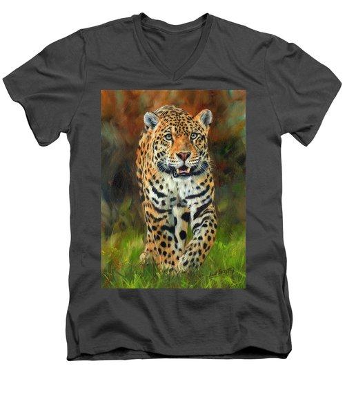 South American Jaguar Men's V-Neck T-Shirt