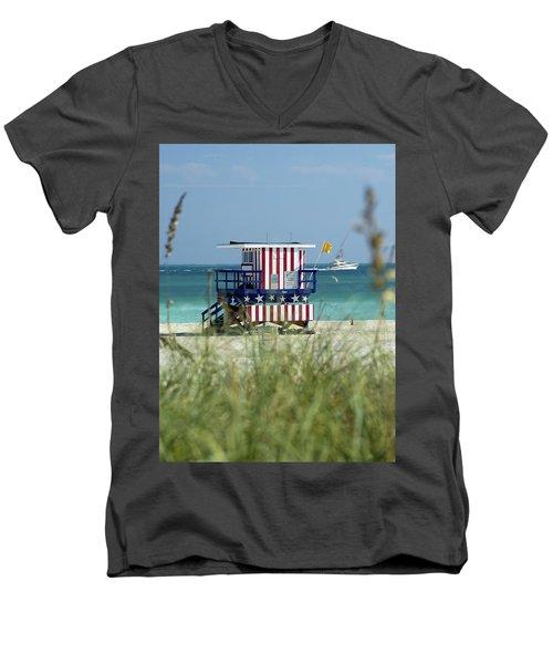 South Beach Men's V-Neck T-Shirt