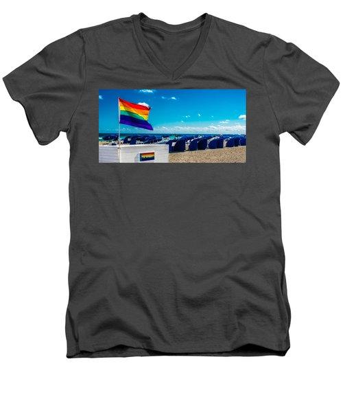 South Beach Pride Men's V-Neck T-Shirt