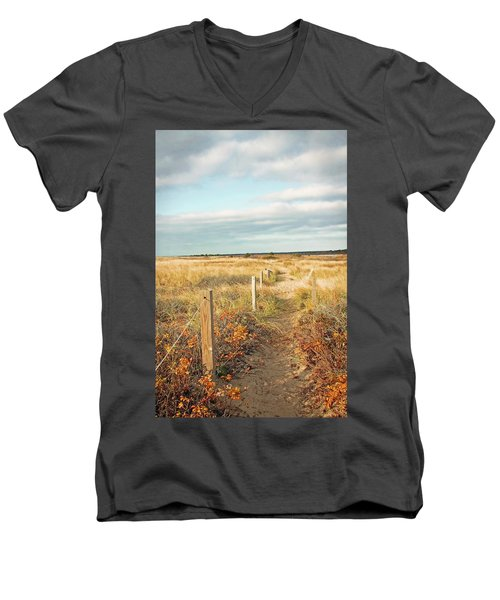 South Cape Beach Trail Men's V-Neck T-Shirt by Brooke T Ryan