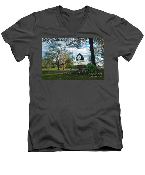 South Central Park - Autumn Men's V-Neck T-Shirt