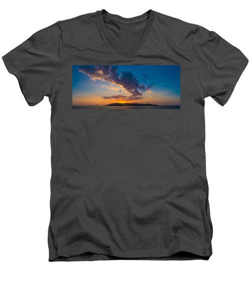 South China Sea Sunset Men's V-Neck T-Shirt