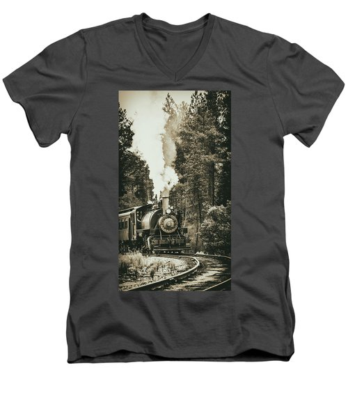 South Dakota Iron Men's V-Neck T-Shirt