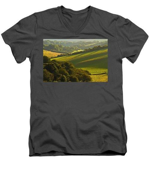 South Downs Men's V-Neck T-Shirt