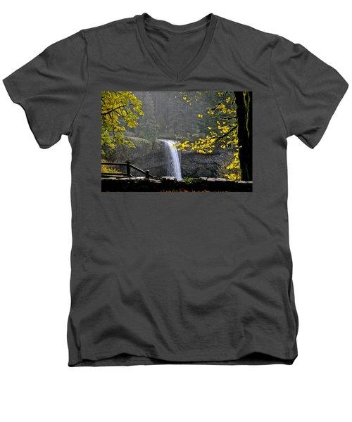 South Falls Of Silver Creek Men's V-Neck T-Shirt