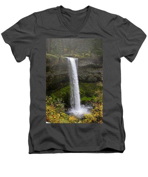 South Falls Of Silver Creek II Men's V-Neck T-Shirt