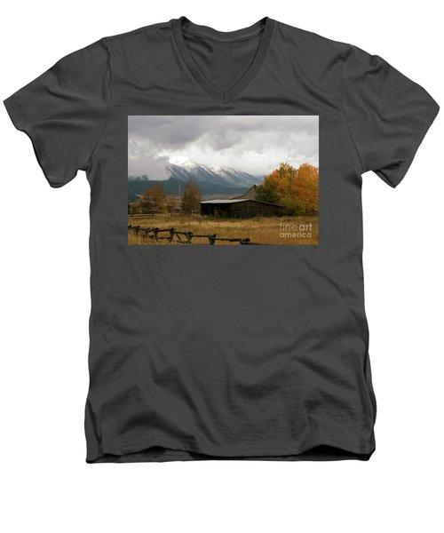 South Idaho Rt 20 Men's V-Neck T-Shirt by Cindy Murphy - NightVisions