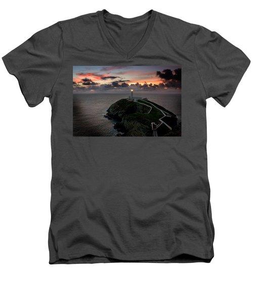 South Stack At Sunset Men's V-Neck T-Shirt