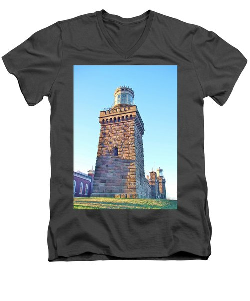 South Tower Of Twin Lights Men's V-Neck T-Shirt