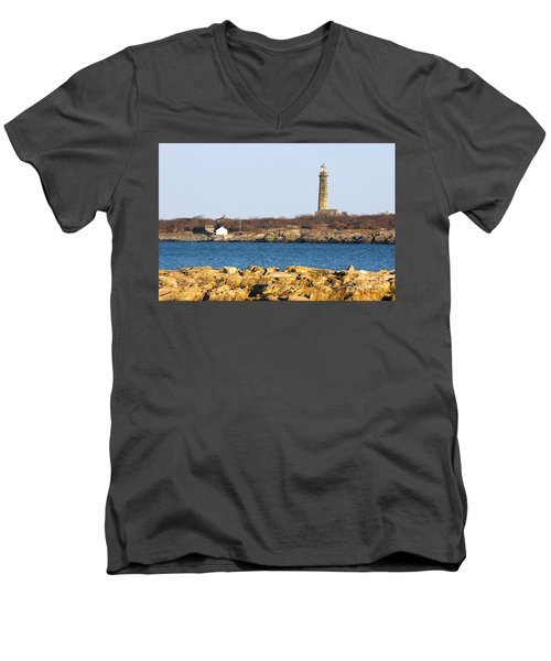 South Tower-thatcher Island Men's V-Neck T-Shirt
