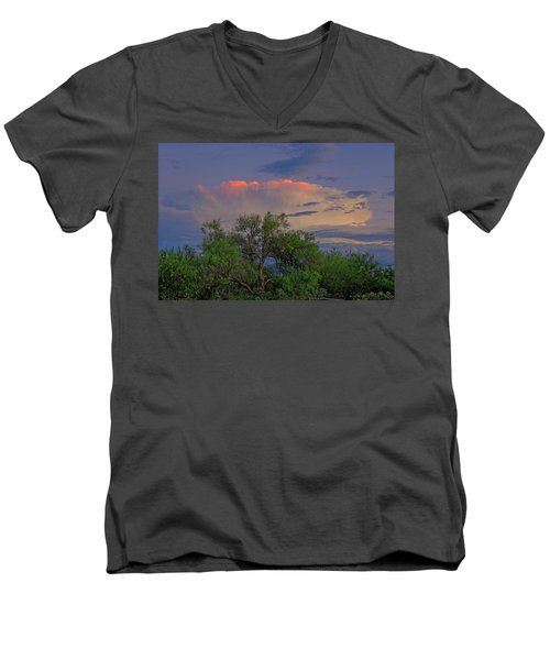 Men's V-Neck T-Shirt featuring the photograph Southeast Of Sunset H38 by Mark Myhaver