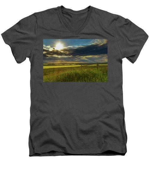 Southern Alberta Crop Land Men's V-Neck T-Shirt