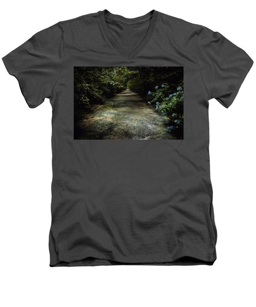 Men's V-Neck T-Shirt featuring the photograph Southern Blue by Jessica Brawley