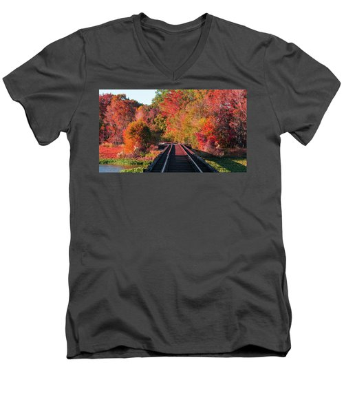 Men's V-Neck T-Shirt featuring the photograph Southern Fall by RC Pics