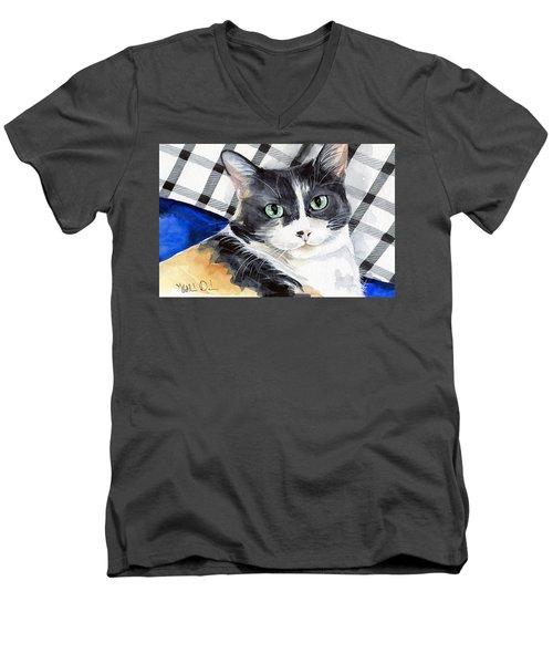 Southpaw - Calico Cat Portrait Men's V-Neck T-Shirt
