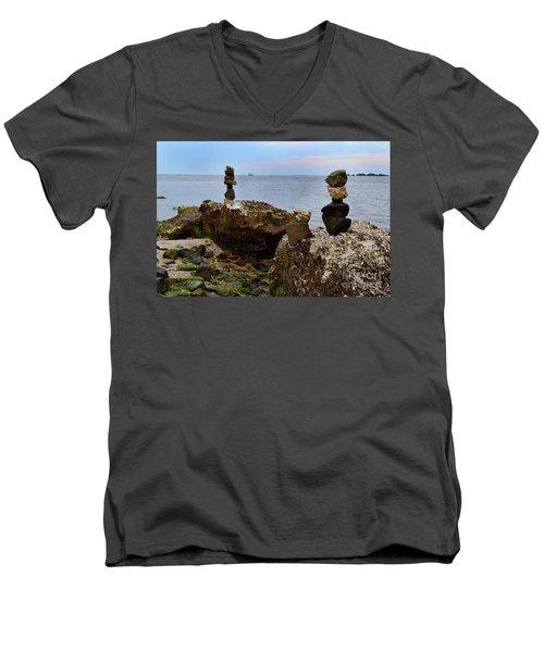 Southport Rock Art Men's V-Neck T-Shirt