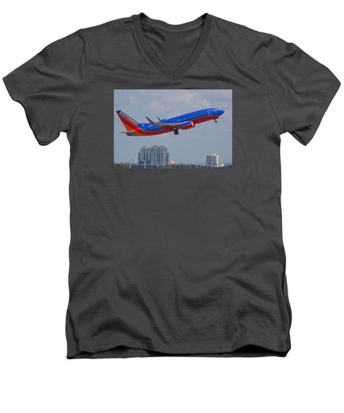 Southwest Airlines Men's V-Neck T-Shirt