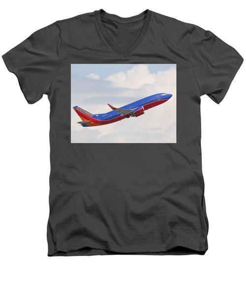 Southwest Jet Men's V-Neck T-Shirt