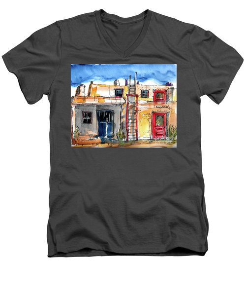 Southwestern Home Men's V-Neck T-Shirt by Terry Banderas