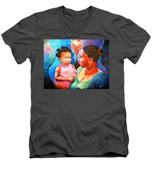 Sowing And Reaping Men's V-Neck T-Shirt by Bankole Abe