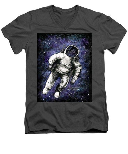Spaaaaace Men's V-Neck T-Shirt by Arleana Holtzmann