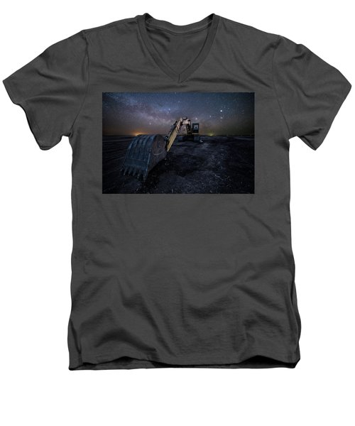 Men's V-Neck T-Shirt featuring the photograph Space Excavator  by Aaron J Groen