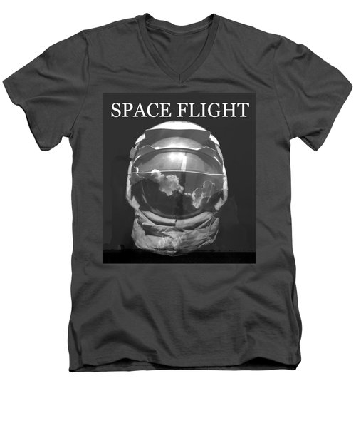 Men's V-Neck T-Shirt featuring the photograph Space Flight by David Lee Thompson