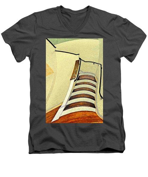 Space Geometry #1 Men's V-Neck T-Shirt