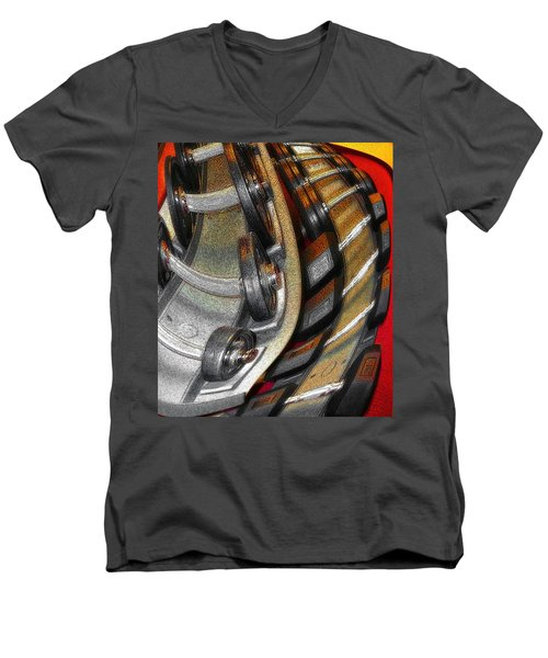 Space Geometry #3 Men's V-Neck T-Shirt