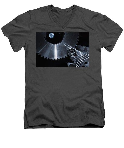 Space Technology And Titanium Parts Men's V-Neck T-Shirt