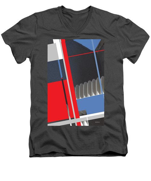 Spaceframe 2 Men's V-Neck T-Shirt by Andrew Drozdowicz