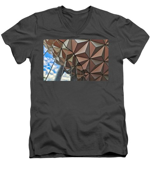 Spaceship Earth And Sky Men's V-Neck T-Shirt