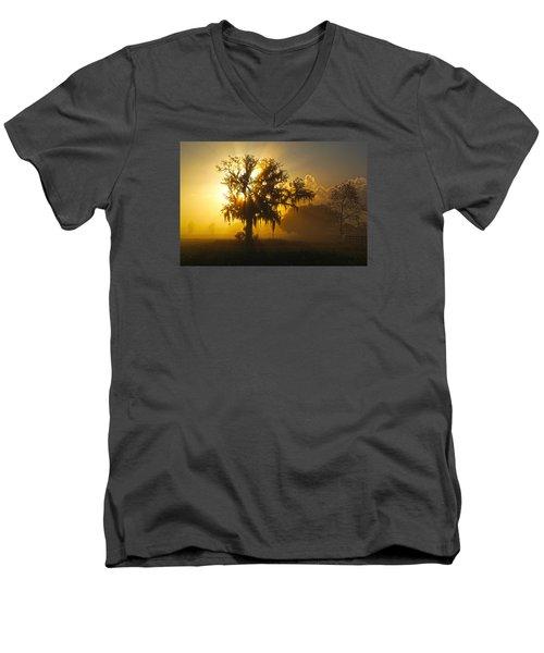 Spanish Morning Men's V-Neck T-Shirt by Robert Och