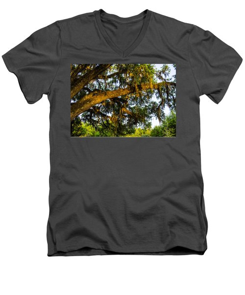 Spanish Moss In The Gloaming Men's V-Neck T-Shirt by Deborah Smolinske