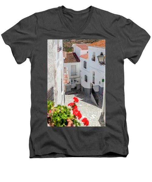 Spanish Street 3 Men's V-Neck T-Shirt