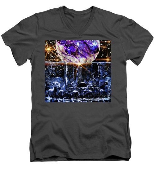 Sparkling Glass Men's V-Neck T-Shirt