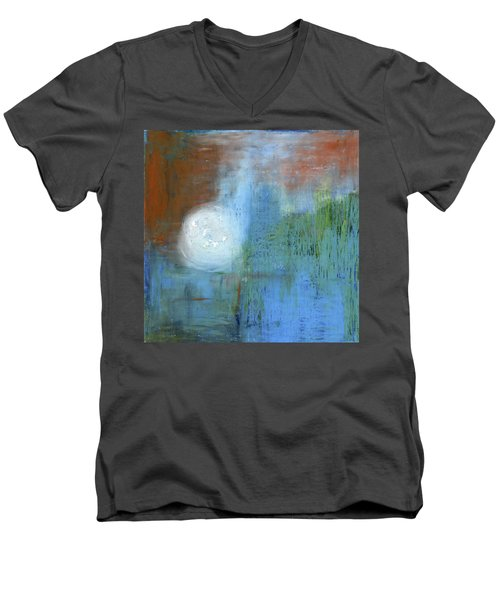 Men's V-Neck T-Shirt featuring the painting Sparkling Sun-rays by Michal Mitak Mahgerefteh